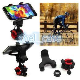 Wholesale Light Handlebar Mount - Adjustable Bike Phone Holder Handlebar 360 Degree Rotatable Motorcycle Bicycle MTB Bracket clip Mount Holder For mobile flash GPS light