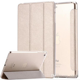Wholesale Slim Hard Back Ipad - Smart Clear Hard Back Cover Elegant Ultra Slim Lightweight Auto Wake Up Sleep Function Stand Leather Case for Ipad 2 3 4 Air 5 6 Mini 1 2 3