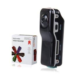 Wholesale Dvr Sensor Hidden - SOUND SENSOR Mini DV AVI 720*480 Sports Digital Video Recorder MD80 Hidden Camera DVR home security camera 100pcs DHLFree