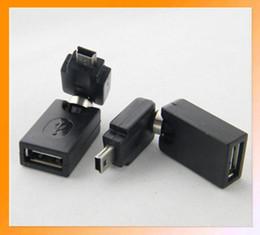Wholesale Mini Usb Angled Cables - Freeshipping! Flexible swivel Angle USB A male to Mini B male Adapter converter connector swivel mini usb