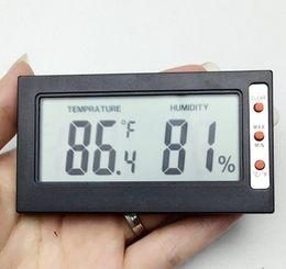 Wholesale Digital C F Thermometer - Mini Digital big LCD sreen -50°C~+70°C(-58°F~+158°F) Indoor Convenient Temperature Sensor Humidity Meter Thermometer Hygrometer Celsius Fah