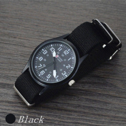 Wholesale Shark Military Sports Watch - Fashion Watch Men Brand New Shark Men's Sport Quartz Wrist Military Watch Luminous Slim 24Hrs Analog Nylon Hot Sale