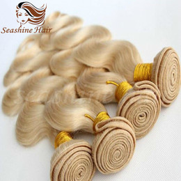 Wholesale Cheap Brazilian Remy Blonde Hair - 2016 New Arravil Blonde Body Wave Indian Virgin Hair Bundels Best Qunlity Human Hair 613 Cheap Body Wave Human Hair Bundels