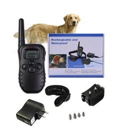 Wholesale Remote Electric Dog Training Collar - Rechargeable and Waterproof 998DR 330 Yards Remote Dog Training Shock Collar with Beep, Vibration and Electric Shock