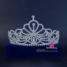 Wholesale Indian Tiaras - Bridal Tiara Crystal Rhinestone Crowns Wedding Hair Accessories Princess Beauty Pageant Queen Formal Party Prom Night Clup Show 02238L