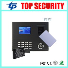 Wholesale Fingerprint Time Attendance Tcp - Wholesale- IN01 fingerprint time attendance and access control with back up battery smart MF card with WIFI standard TCP IP