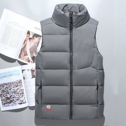 Wholesale down feathers coat - Fashion Classic brand Men winter down vest feather weskit jackets mens casual down vests coat mens jacket size:M-XXL