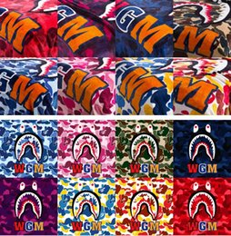 Wholesale fabrics sofas - new ape-man ,Shark Printed Throw Blankets Manta Bathing aape Blanket super Soft Fleece Blankets on the bed Sofa Blanket 130*150cm