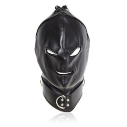 Wholesale Halloween Bondage Costume - Hot Sty GIMP Full Mask Harness Hood Zipper Bondage Fetish Roleplay Costume Party #R172