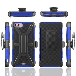 Wholesale Iphone Holder Belt Clip - Armor Hybrid Case For Iphone7 Iphone 7 6 6S Plus 4.7 7G 7PLUS 7TH Shockproof 3 in 1 Hard PC + Silicone Clip Belt Stand Dot Skin Cover Holder