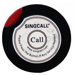 Wholesale Restaurant Button - SINGCALL Wireless service calling button,ultrathin single call button for coffee or tea house,restaurant