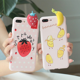 Wholesale Cute Silicone Phone Cases - cute fruit 3D Case for iPhone x 6 6s plus 7 Silicone Soft TPU Cartoon Pineapple Phone cases Cover for iPhone 8 Plus