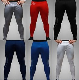 Wholesale Soccer Pants Wholesale - Wholesale-Fashion Nice Men Skinny Soccer Pant Training Sweat Sport Gym Athletic tight fit