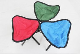 Wholesale Small Outdoor Chairs - Mini portable outdoor barbecues beach chair fishing chairs Pocket chair outdoor camping traving use folding canvas chair kids small chairs