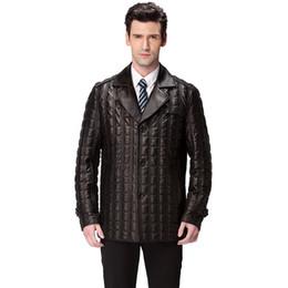 Wholesale Best Leather Coats - Best Seller leather jacket men,Genuine Leather,Mandarin Collar,Sheepskin,Man coat,men's jacket,Men's down jacket,brand clothing