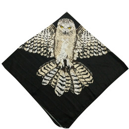 Wholesale Chiffon Scarf Squared - New designer fashionable amazing owl printing versatile women winter square scarf soft wraps 8pcs lot