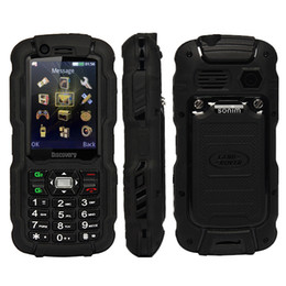 Wholesale Cheap Uhf Radios - Cheap Walkie Talkie PTT Mobilel Phone Discovery A12i 2.4Inch IP67 Waterproof UHF 3800mAh dual sim Quad band GSM A12