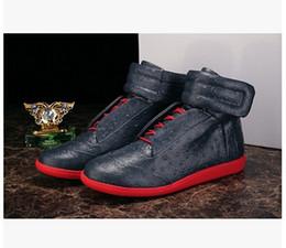2019 as mulheres da forma elevam calçados dos esportes Margiela Martin Margiela Sapatos da moda com sapatos de alta-top de couro modelos de moda estrela calçados esportivos mulheres e homens bota frete grátis as mulheres da forma elevam calçados dos esportes barato