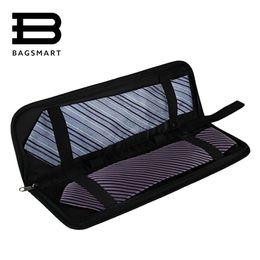 Wholesale Boys Suitcases - Wholesale- Men's Lightweight Black Nylon Tie Organizer With Zipper Little Tie Case Fashion Tie Storge Luggage Travel Bags