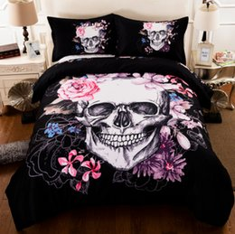 Wholesale King Size Duvet Covers - New 3D Creative Skull Duvet Cover Set 3PC Bedding Set Quilt Cover Pillowcase Twin Full Queen King Size