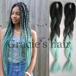 Wholesale Cheap Boxes Hair - Hot Cheap havana twist box braids hair 24inch 100gram Crochet Braids Synthetic braiding hair Jumbo Box Braids Crochet Hair weaving bundles