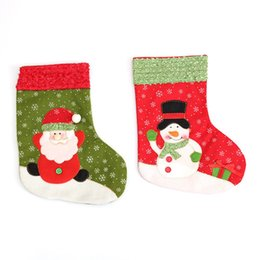Wholesale Product Trees - 4Pcs  Lot Coloful Santa Claus Christmas Socks Christmas Tree Hanging Ornaments Decoration Xams Products Supplies Candy Bags