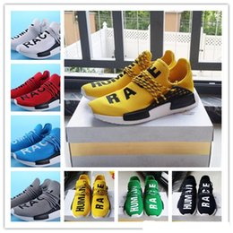 Wholesale Hotsale Shoes - [With Box] Free shipping Cheap May New Style HOTSALE NMD HUMAN RACE Running Shoes Sports Mesh Breather Summer Pharrell Williams X NMD 36-44