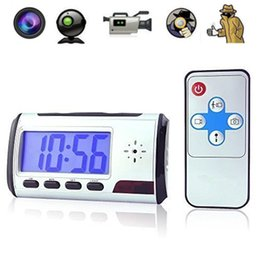 Wholesale Spy Cameras Sound - Spy Hidden Camera Clock HD Newest Digital Alarm Clock Motion Detector Sound Recorder Digital Video Camera With Remote Control For security