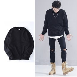 Wholesale Sweater Zipper Decoration - Hip Hop High Street Sweatshirts Men Sportswear Cotton Swag Women Men Sweatshirt fashion Zipper decoration Pullovers Sweater