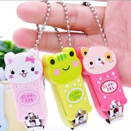Wholesale Clippers Infant - Creative Cartoon Baby Nail Clipper New Cute Children's Nail Care Cutlery Scissors Animal Infant Nail Clippers with Keychain Wholesale Sale