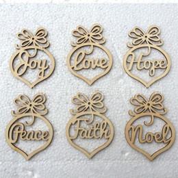 Wholesale Popular Christmas Ornaments - Wood Heart Bubble Pattern Ornament For Christmas Laser Decoration Pendant Hollow Out Design Small Ornaments Creative Popular 5jm B R