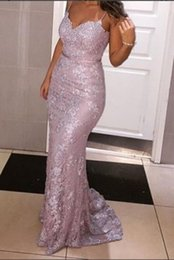 Wholesale strapless mermaid beaded prom dress - Custom Made 2018 Sexy Inspired Lace Appliques Sweetheart Strapless Mermaid Champagne Prom Dresses Evening Pageant Gown