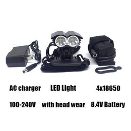 Wholesale lumen cycle lights - Catazer A21 5000 Lumen 2x U2 LED Bicycle Front Light LED MTB Mountain Cycling Bike Light Spotlight Lamp