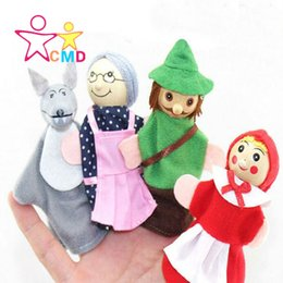 Wholesale Play Tale - Wholesale-Little Red Riding Hood and the big bad wolf Finger toy finger doll fairy tale educational early childhood parent-child play