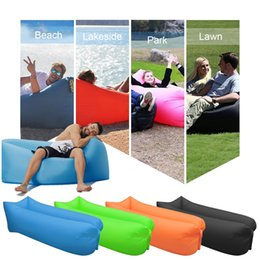 Wholesale Inflatable Boxing Toy - Inflatable Air Sofa Bed Lazy Sleeping Camping Bag Beach Hangout Couch Windbed With Retail Box Free Shipping