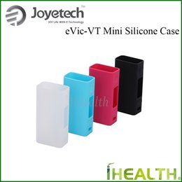 Wholesale Evic Casing - Autentic! Joyetech Silicone Case Protective Rubber Cover Skin for eVic VCT Mini 75W Mod 4 color options fast shipping