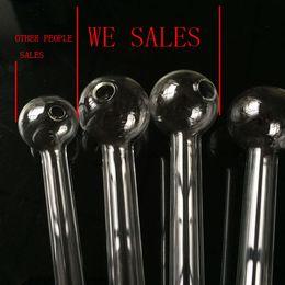 botella de aluminio de color al por mayor Rebajas Tuberías de vidrio Quemador de aceite Tubería de vidrio Aceite Clavo Gran Pyrex Grueso Claro de aceite Clavo Tubos para fumar de 4.75 pulgadas de largo