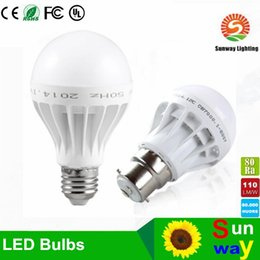 Wholesale E27 E14 Base - Free Shipping High Quality 3W 5W 7W 9W 12W LED Bulbs Energy-Saving Light E27 Base Globe Light Bulb Wholesale Cheap Lightings Lamp 220V-240V