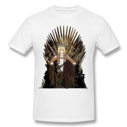 Wholesale Tee Shirt Iron Size - Mens Short Sleeve Shirts Krista On The Iron Throne Male Tee Shirts For Men Orange Newest Crewneck Tops Tees Novelty Camisetas