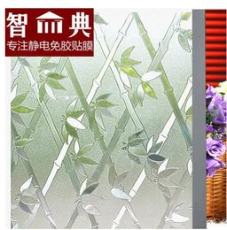 Wholesale Kitchen Door Glass Stickers - Free of adhesive stickers bedroom pervious to light decorative insulation window paper move the door glass film 3 d bamboo275