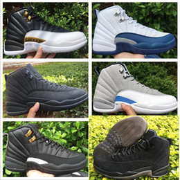 Wholesale Wedge Boots Online - Wholesale Casual Retro 12 Basketball Shoes Men Cheap XII Boots High Quality For Sale Sneakers 2016 New Online Sport Shoes Free Drop Shipping