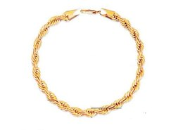 Wholesale Twisted Rope Chain Link - Europe and the United States selling jewelry 18K gold-plated two-color twist chain men and women bracelet bracelet