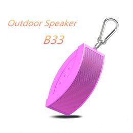 Wholesale New Usb Products - New product B33 Mini Colorful Portable Bluetooth Speaker for phone&PC support TF card with FM USB AUX Surround Sport Speaker 19-YX