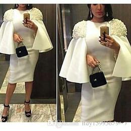 2018 Nueva árabe media mangas vestidos de cóctel con cuentas longitud de la rodilla vestidos de fiesta formal del desfile del día de fiesta desgaste envío rápido 408 desde fabricantes