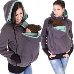 Wholesale Hooded Baby Sweater - Newest Baby Carrying Jacket Baby Carrier Hoodie Kangaroo Coat&Jacket for Mom and Baby Wearing Hoodie Maternity Sweater