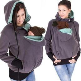 Wholesale Green Maternity Coat - Newest Baby Carrying Jacket Baby Carrier Hoodie Kangaroo Coat&Jacket for Mom and Baby Wearing Hoodie Maternity Sweater