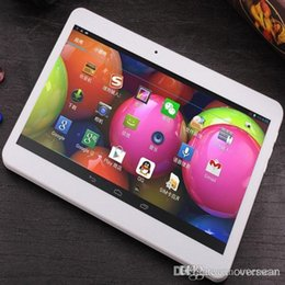 Wholesale Cheap 32gb Tablets - Cheap 10.1 inch Octa core MTK6592 Android 4.4.2 phablets 3G Phone call 4GB 32GB 1280*800 bluetooth GPS 30pcs lot