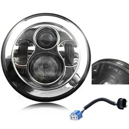 Wholesale Motorcycle 1995 - 1Pcs Harley Motorcycle Led Headlight 7inch Projector Daymaker Headlights Round Hi-Lo Beam H4 H13 12V 24V Headlights For Harley