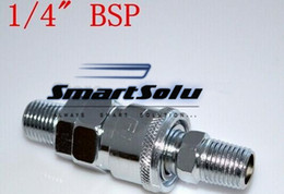 """Wholesale Quick Coupler Socket - High Quality 1 4"""" BSP Male Air Compressor Pneumatic Quick Coupler Connector Socket Fittings Set SM-20 PM-20"""