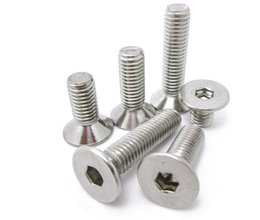 Wholesale Sink Head - 202 stainless steel flat DIN7991 inner six angle screw head sink M6*10--40 inner six angle bolt flat cup free shipping!